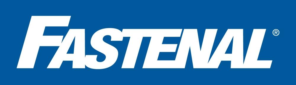 Fastenal Logo_wht on blu bg