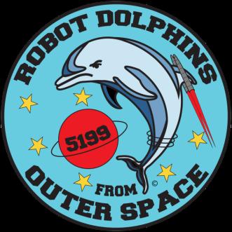 Robot Dolphins Logo Image